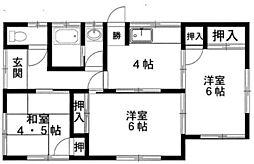 [一戸建] 福岡県福岡市東区若宮3丁目 の賃貸【/】の間取り