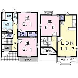 [一戸建] 神奈川県横浜市栄区桂台東 の賃貸【/】の間取り