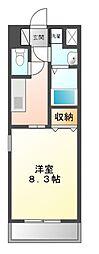 愛知県豊田市豊栄町1丁目の賃貸マンションの間取り