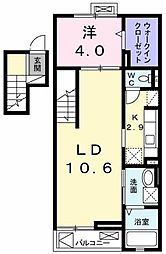カーサ プラシードII[4階]の間取り