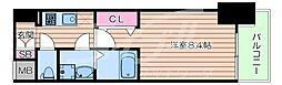 JR東海道・山陽本線 岸辺駅 徒歩4分の賃貸マンション 9階1Kの間取り