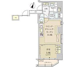 パークアクシス赤坂見附[13階]の間取り