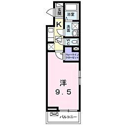 京王線 聖蹟桜ヶ丘駅 徒歩7分の賃貸アパート 3階1Kの間取り