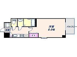 阪神なんば線 九条駅 徒歩8分の賃貸マンション 5階1Kの間取り