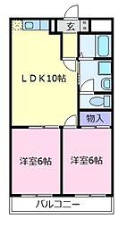 リエス松原[2階]の間取り