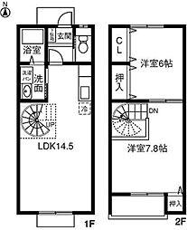 愛知県豊川市古宿町の賃貸アパートの間取り