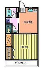 埼玉県入間郡毛呂山町南台5の賃貸アパートの間取り