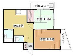 ライズコーポ[1階]の間取り