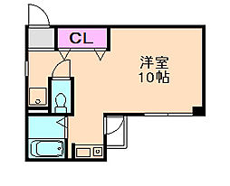 大阪府豊中市曽根西町3丁目の賃貸マンションの間取り