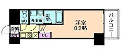 ファーストフィオーレ東梅田[7階]の間取り