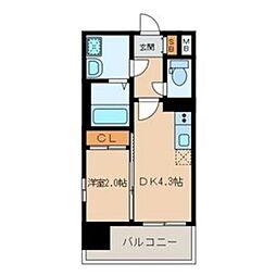 MODERN PALAZZO 大濠スクエア 6階1DKの間取り