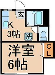 フォーブル藤野[1階]の間取り