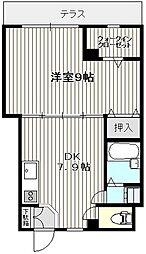 メナージュ桜台[1階]の間取り