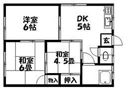 ふじの荘[202号室]の間取り