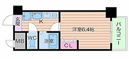 大阪府大阪市浪速区大国1丁目の賃貸マンションの間取り