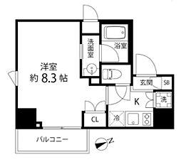 DeLCCS TOKYO BAY デルックス東京ベイ 8階1Kの間取り