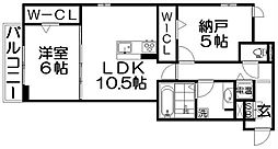 仮称)D-room南中振2丁目[2階]の間取り