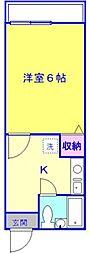 東京都練馬区旭町2丁目の賃貸アパートの間取り