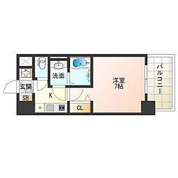 阪神なんば線 九条駅 徒歩9分の賃貸マンション 2階1Kの間取り