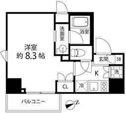 DeLCCS TOKYO BAY 6階1Kの間取り