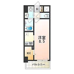 Osaka Metro谷町線 平野駅 徒歩10分の賃貸マンション 2階1Kの間取り