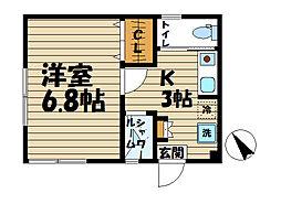 HAITU K[105号室]の間取り