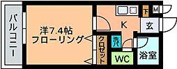 ファインヒル西片江[203号室]の間取り