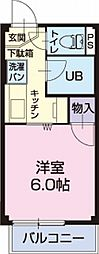 岐阜県関市向山町2丁目の賃貸アパートの間取り