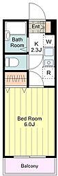 JR中央線 八王子駅 バス30分 滝山町1丁目下車 徒歩1分の賃貸マンション 1階1Kの間取り