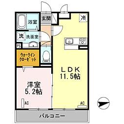 神奈川県川崎市宮前区梶ケ谷の賃貸アパートの間取り