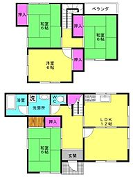 [一戸建] 兵庫県加古川市野口町北野 の賃貸【/】の間取り