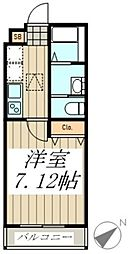 ARU MAISON 1階1Kの間取り