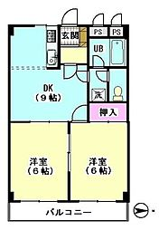 ハイパールマンションII[303号室]の間取り