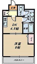 大阪府大阪市城東区蒲生4丁目の賃貸マンションの間取り