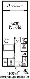 ドミール大倉山[203号室]の間取り