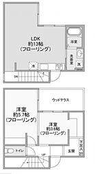 [テラスハウス] 神奈川県川崎市多摩区中野島4丁目 の賃貸【/】の間取り
