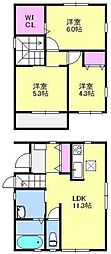 [テラスハウス] 福岡県福岡市東区香住ケ丘4丁目 の賃貸【/】の間取り