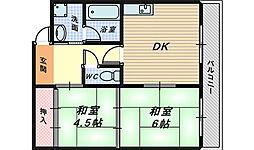 パラッツオ安藤[2階]の間取り