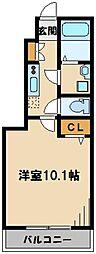 東武越生線 武州唐沢駅 徒歩7分の賃貸アパート 1階1Kの間取り
