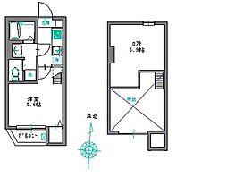 メゾンコンフォース[2階]の間取り