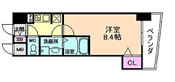 アドバンス西梅田[5階]の間取り