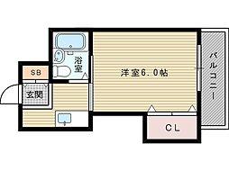 メゾン土井エリート[3階]の間取り