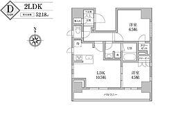 KDXレジデンス神田[7階]の間取り