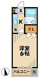 △アメニティ南陽台[207号室]の間取り