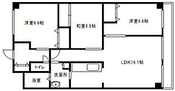 北海道札幌市白石区東札幌一条1丁目の賃貸マンションの間取り