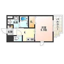 Osaka Metro中央線 阿波座駅 徒歩9分の賃貸マンション 9階1Kの間取り