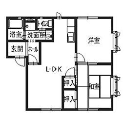 大阪府松原市新堂2丁目の賃貸アパートの間取り