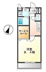 ラフィネ浄水[2階]の間取り