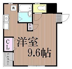 東京都品川区西大井5丁目の賃貸マンションの間取り