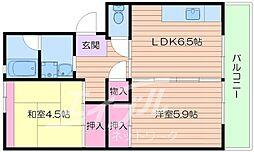 UR箕面粟生第3 17号棟[1階]の間取り